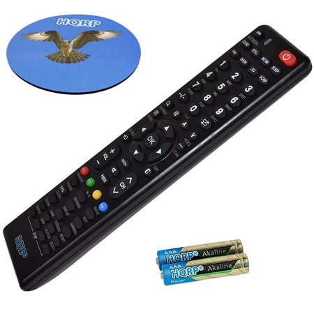 HQRP Remote Control for TCL LE40FHDE5510 LE40FHDE3010 L40FHDM11 40; LCD LED HD TV Smart 1080p 3D Ultra 4K + HQRP Coaster