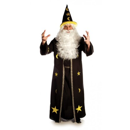 Potion Master Costume Wizard Mens Adult Black Halloween Robe Standard Plus Size - image 1 de 1