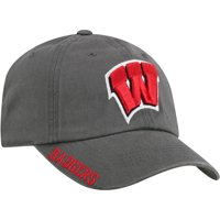 Men's Russell Charcoal Wisconsin Badgers Washed Adjustable Hat - OSFA