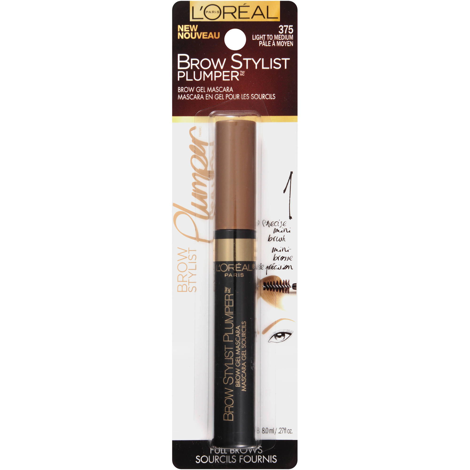 L'Oreal Paris Brow Stylist Brow Plumper, Light to Medium