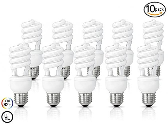 (10 Pack) Circle 13 Watt (60 Watt) Compact Fluorescent Light, Cool White 4100K, Mini... by Circle