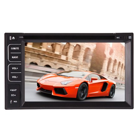 2016 New In Dash Double Din Car Stereo Automotive DVD Player 2 Din Deck Auto Radio Video Audio Receiver Car Head Unit System for Bluetooth USB SD Slot 6.2 inch Multimedia