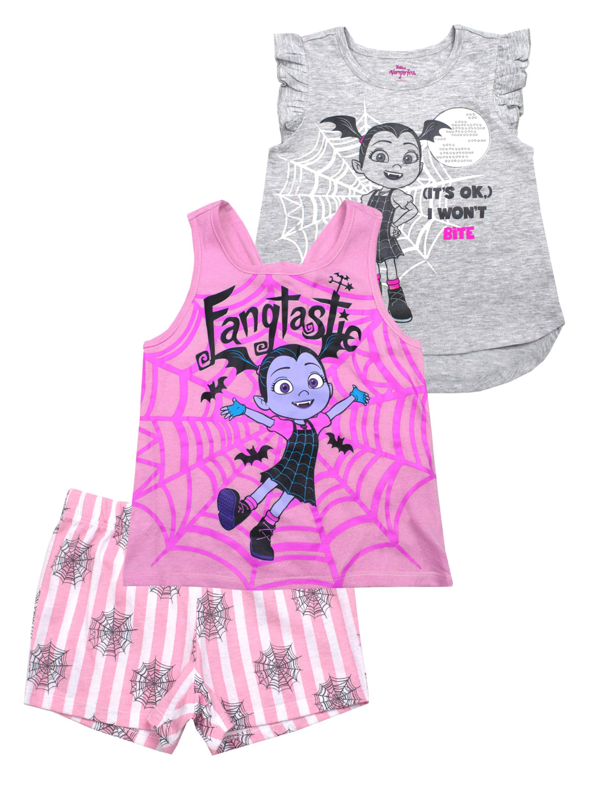 Vee Hi-Lo Tee, Tank and Short, 3-Piece Outfit Set (Little Girls)
