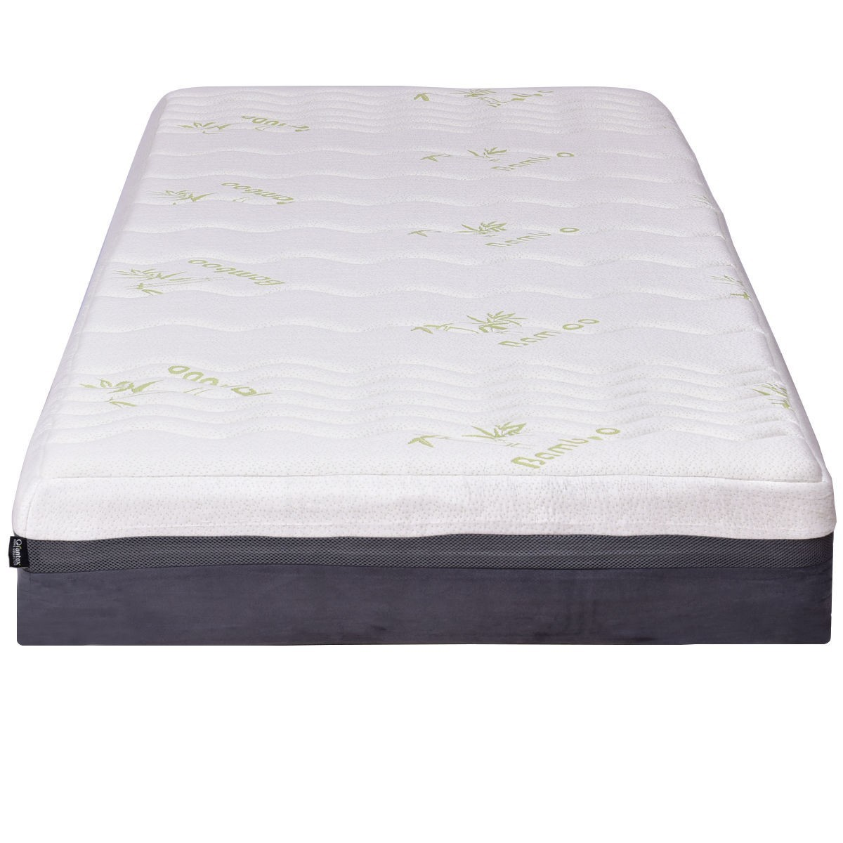 "Four Size 10"" Memory Foam Bamboo Fiber Mattress - California King Size"