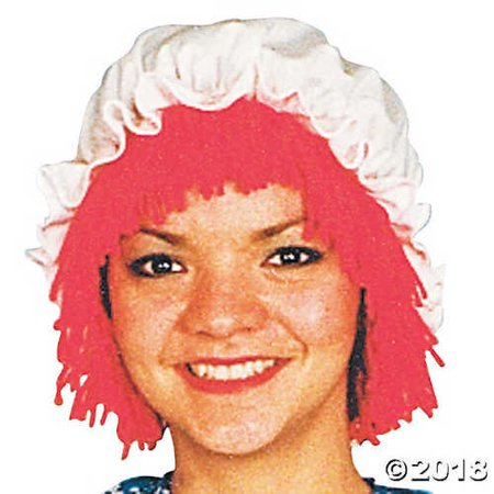 Raggedy Ann Wig with Hat - Raggedy Ann Hat