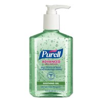 PURELL Advanced Hand Sanitizer Soothing Gel, Fresh Scent with Aloe and Vitamin E, 8 oz, 12/Carton -GOJ967412CT