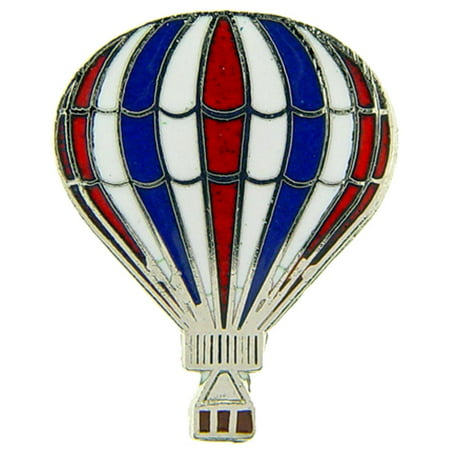 Hot Air Balloon Pin Red White & Blue - Hot Air Balloon Pins For Sale