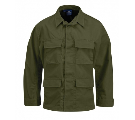 Propper BDU 4-Pocket Coat, 100% Cotton Ripstop, Extra Large - Long, Olive Green