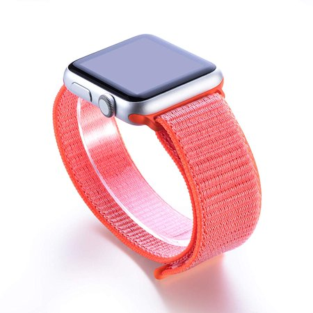 Apple Watch Replacement 42mm Bands, Soft Lightweight Breathable Nylon Sport Loop Replacement Strap for iWatch Apple Watch Series 3, Series 2, Series 1, Hermes, Nike+ - Orange - image 2 of 2