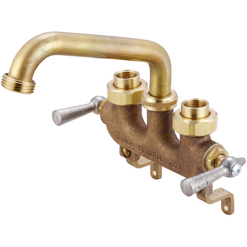 Central Brass Laundry Faucet with Centers and Offset Legs