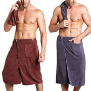 Men SPA Bath Shower Wrap Towel Blanket Swimming Beach Dry Quick Towel With Pocket