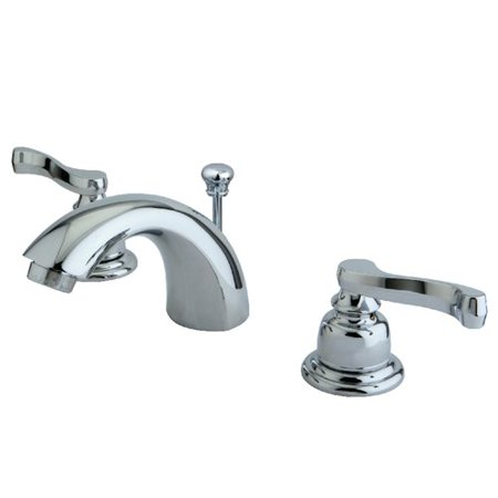Kingston Brass Royale Mini Widespread Bathroom Faucet with Retail Pop-Up (Kingston Brass Pop)