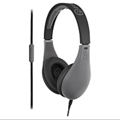 ifrogz Audio Coda Headphones with Mic Gray - Stereo - Gray - (Refurbished)