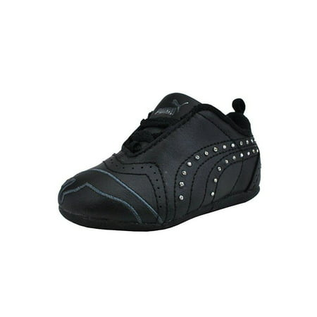 Puma Shoes Sela Diamond Rhinestone Infant Toddler Girls Black Sneakers