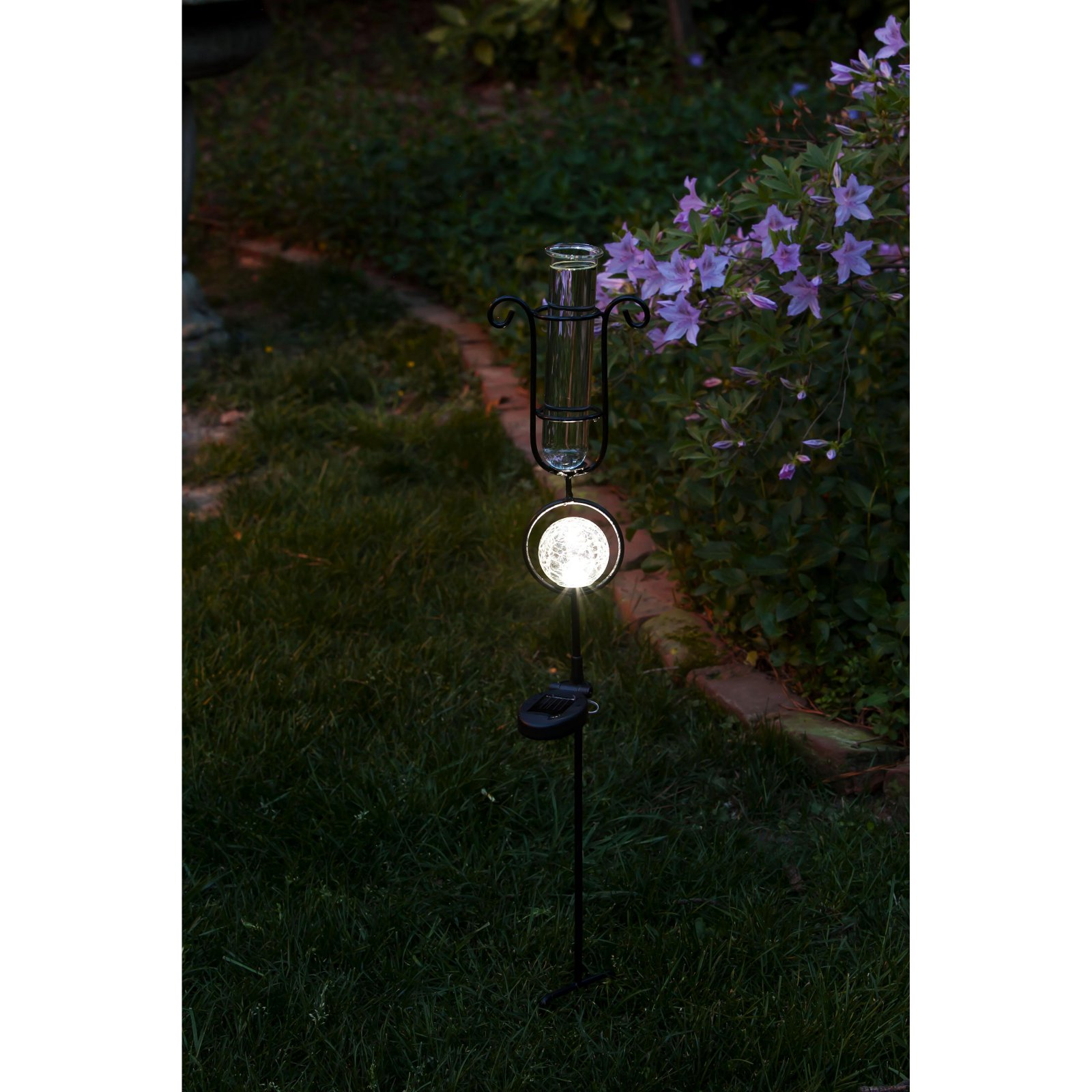Evergreen Enterprises LED Solar Rain Gauge Garden Stake by EVERGREEN ENTERPRISES