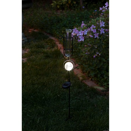 Evergreen Enterprises LED Solar Rain Gauge Garden Stake