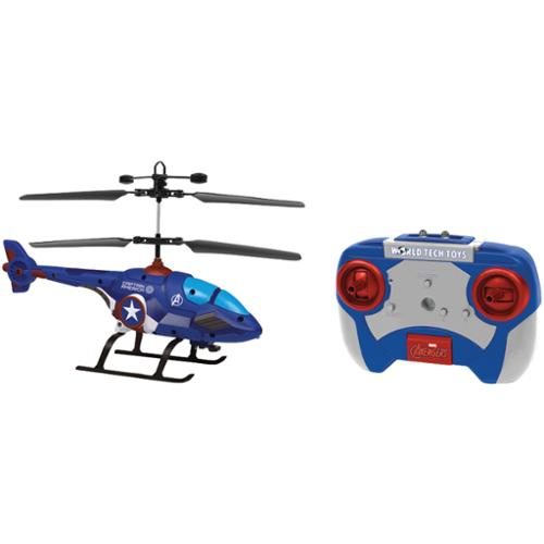 World Tech Toys 34898 2-Channel Marvel(R) IR Helicopter with LED Lights (Captain America(R))