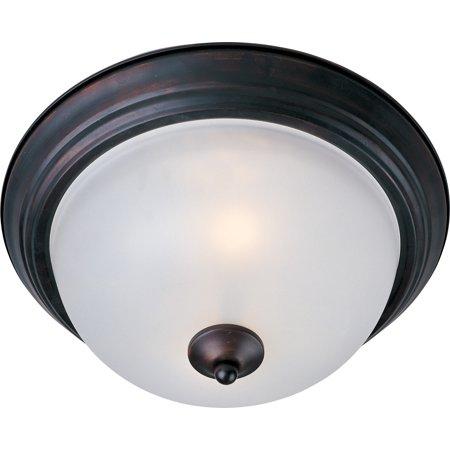 Maxim Lighting 5840FTOI Essentials - 584x Flush Mount Light, Oil Rubbed Bronze Bronze Flush Mount Lighting