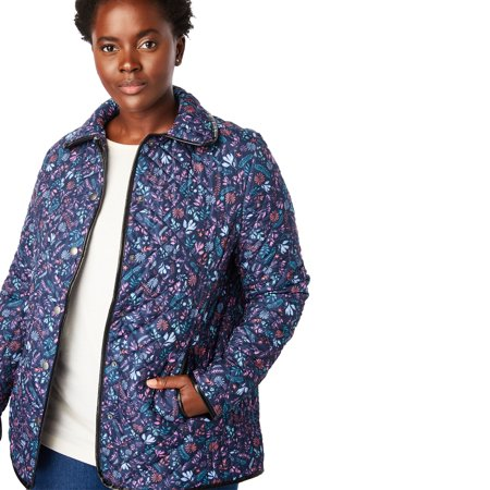 8936ebdf0c3 Woman Within - Woman Within Plus Size Quilted Snap-front Jacket -  Walmart.com