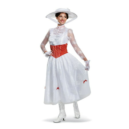 Mary Poppins Halloween Outfit (Adults Women's Disney Mary Poppins Dress Deluxe Costume Small)