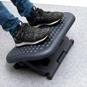 Mind Reader 3 Position Adjustable Height Ergonomic Foot Rest , Black