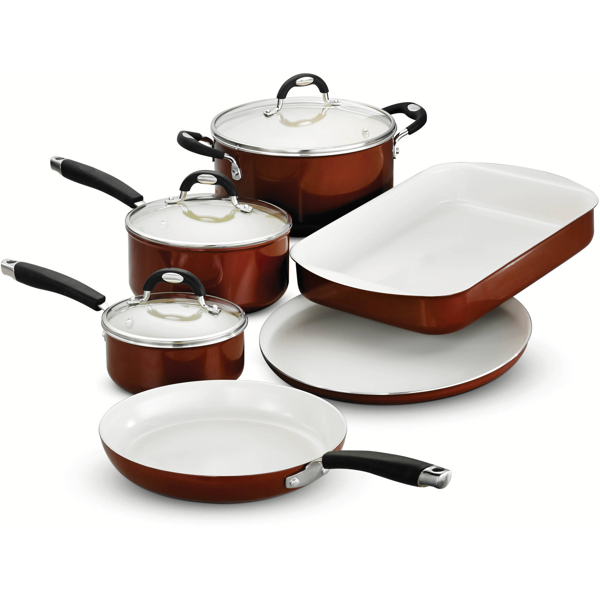 Tramontina Style 9-Piece Cookware/Bakeware Set, Metallic Copper