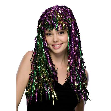 Tinsel Mardi Gras Wig](Tinsel Wig)