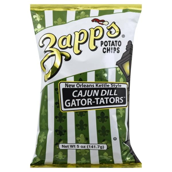 Zapp's New Orleans Kettle Style Cajun Dill Gator Tators Potato Chips, 5 Oz.