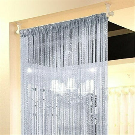 Wedlies Door String Curtain Window Panel Room Divider Crystal Tassel Fringe Beaded ()
