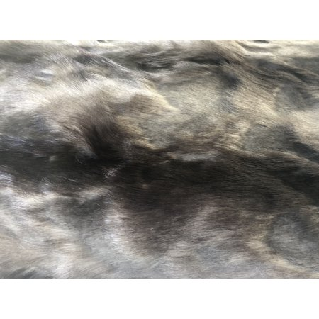Plutus PBSF1419-9090-TC 90 x 90 in. Brandy Faux Fox Luxury Throw Blanket - Gray, Charcoal & Black - image 2 de 3
