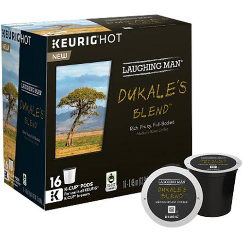 Keurig Hot Laughing Man Dukale's Blend Medium Roast Coffee, 0.45 oz, 16 count