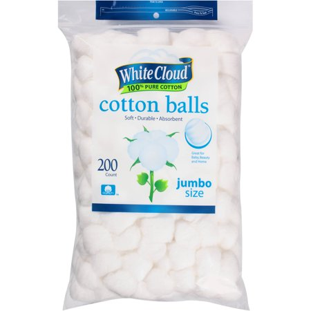 White Cloud Jumbo Size Cotton Balls, 200 ct