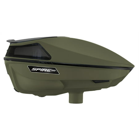 VIRTUE SPIRE III ELECTRONIC PAINTBALL LOADERS / HOPPERS - OLIVE &