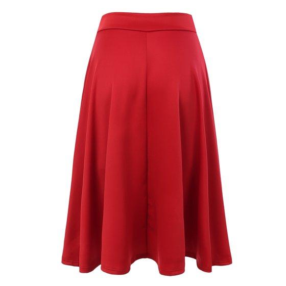 ff04810b4be91 Doublju - Doublju Women s Basic Solid Versatile Stretchy Flared ...