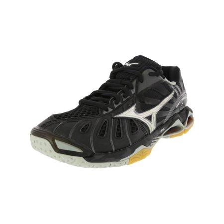 Wave Tornado Volleyball Shoes - Mizuno Wave Tornado X Volleyball Shoe - 7M - Black / Grey / Silver