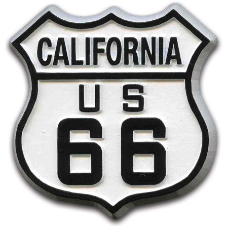 Route 66 Messenger (Route 66 California Road Sign Fridge Magnet)