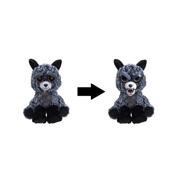 Silver Fox Stuffed Animal, William Mark Feisty Pets Tricky Ricky Adorable 8 5 Plush Silver Fox That Turns Feisty With A Pinch Walmart Com Walmart Com