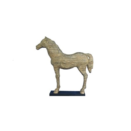 Oh Trendy Large Horse Silhouette Statue Textured Sculpture Home Décor With Stand