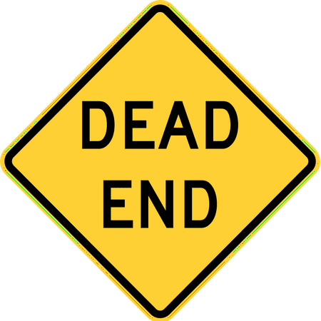 Traffic Signs - Dead End 12 x 18 Aluminum Sign Street Weather Approved Sign ()