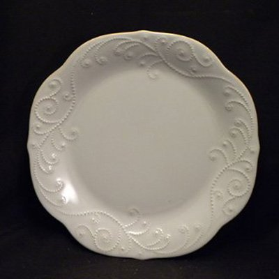 Lenox French Perle White Dinner Plate - Set of 4 (Lenox Porcelain Plates)