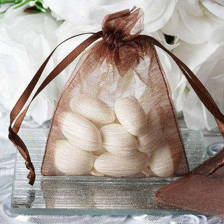 BalsaCircle 10 pcs 3x4 inch Organza Favor Bags - Wedding Party Favors Jewelry Pouch Candy Gift Small Goody - Pink Gable Boxes