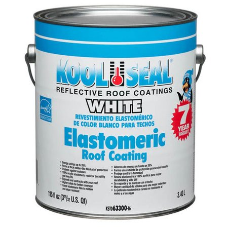 Kool Seal White Elastomeric Roof Coating 1 Gal Walmart Com