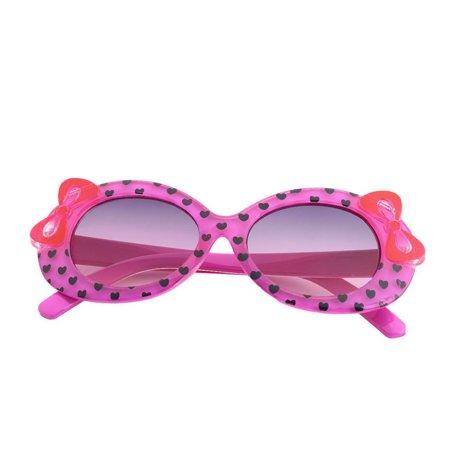 Durable Plastic Cute Baby Child Kids Children Fashion Casual Multicolor Cat Eye Bow Design Heart Print Sunglasses Glasses Purple