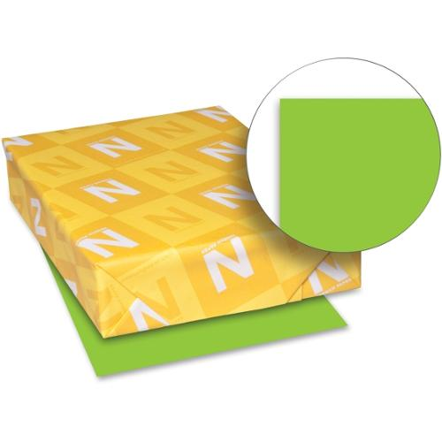 "Astrobrights Colored Paper - Letter - 8.50"" x 11"" - 60 lb Basis Weight - Recycled - Smooth - 500 / Ream - Lime Green"