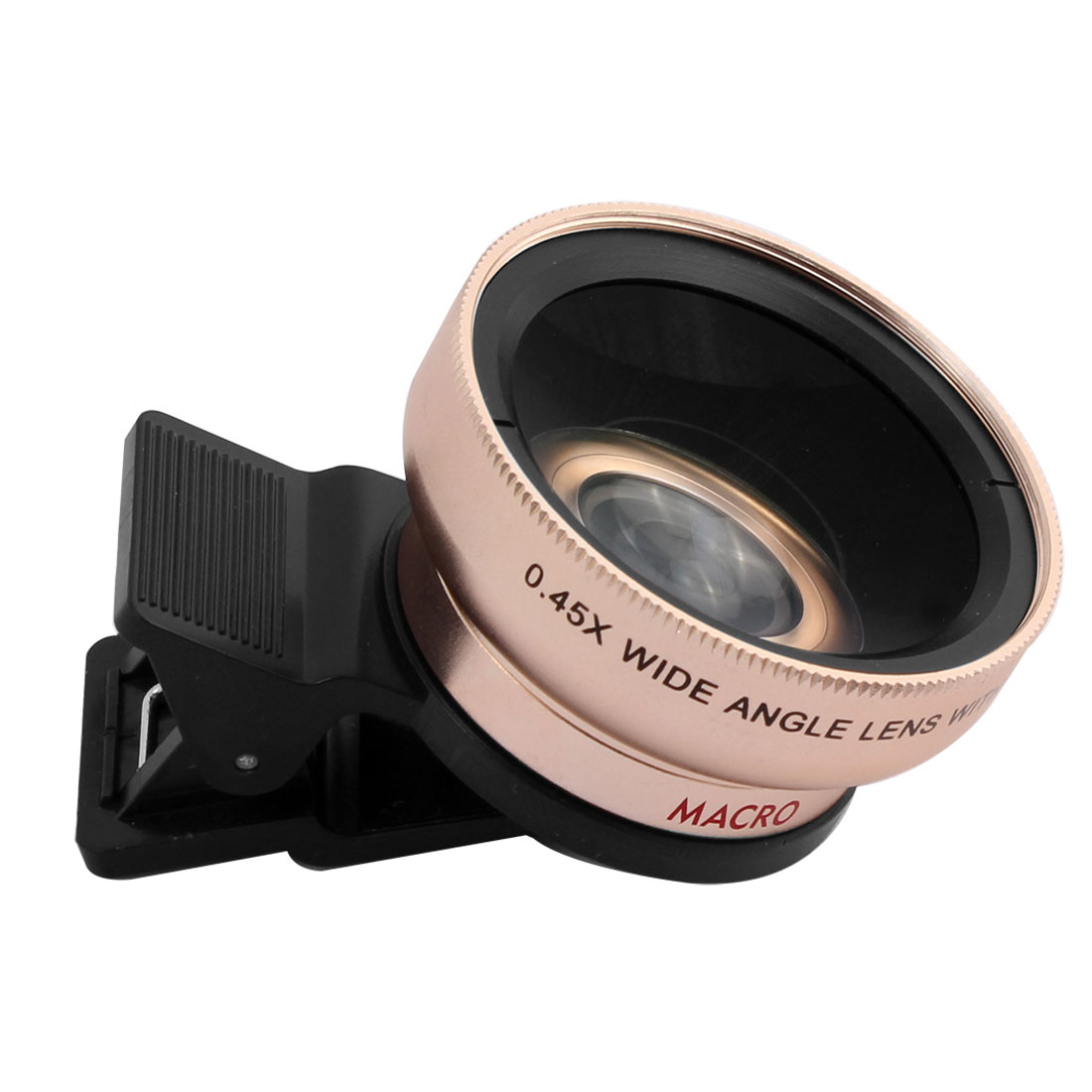 37mm HD 0.45x Super Wide Angle Macro Lens Kit Gold Tone for Mobile Phone Camera