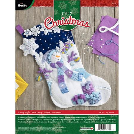 "Bucilla Felt Stocking - Frosty Night 18"""