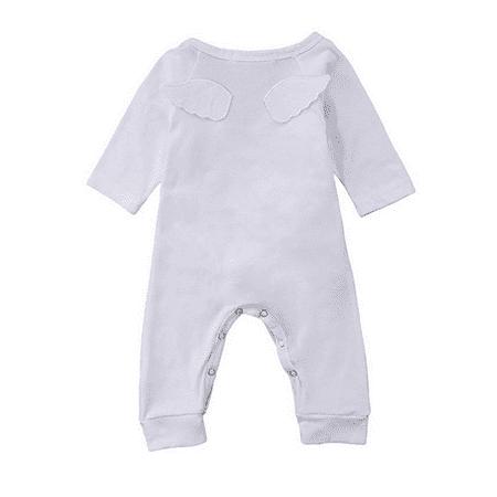 Newborn Baby Boy Girl Angel Wings Long Sleeve One Piece Romper Jumpsuit Pajamas](Baby Angel Wings)