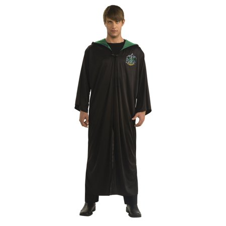 Harry Potter Slytherin Robe Adult Halloween Costume - Halloween Costumes To Do At Home