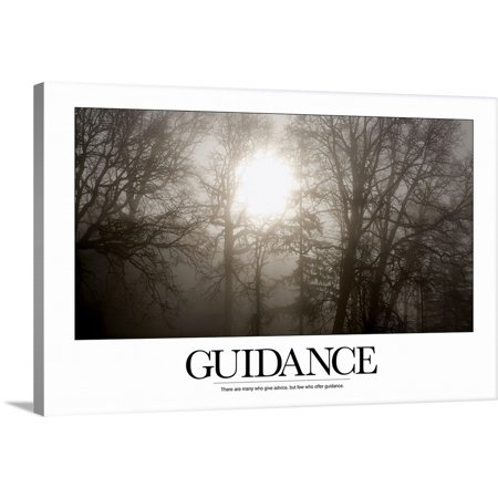"Great BIG Canvas | ""Inspirational Poster: There are many who give advice, but few who offer guidance"" Canvas Wall Art"