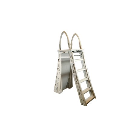 Confer 7200 Roll-Guard A-Frame Above Ground Swimming Pool Safety Ladder,